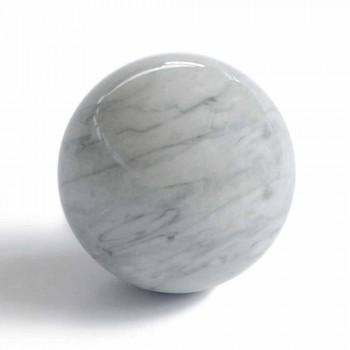 Fermacarte Moderno a Sfera in Marmo Grigio Bardiglio Made in Italy - Sphere