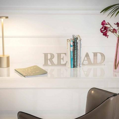 Fermalibri in Plexiglass Beige o Bianco Scritta Read di Design - Feread