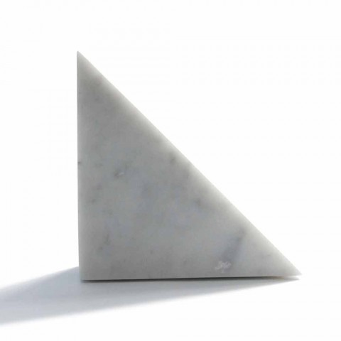 Fermalibro di Design in Marmo Bianco di Carrara Moderno Made in Italy - Tria