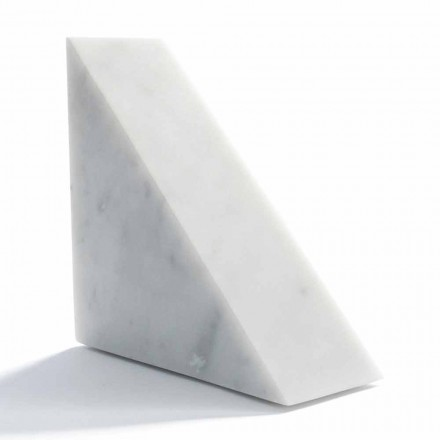 Fermalibro di Design in Marmo Bianco di Carrara Moderno Made in Italy - Tria