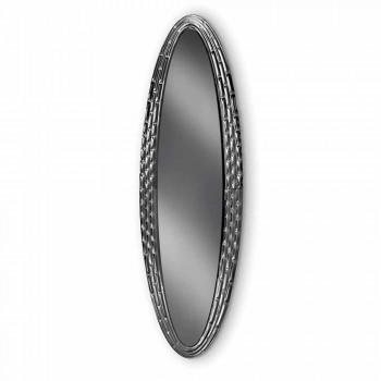Fiam Veblèn Pasha specchio ellittico da parete di design made in Italy