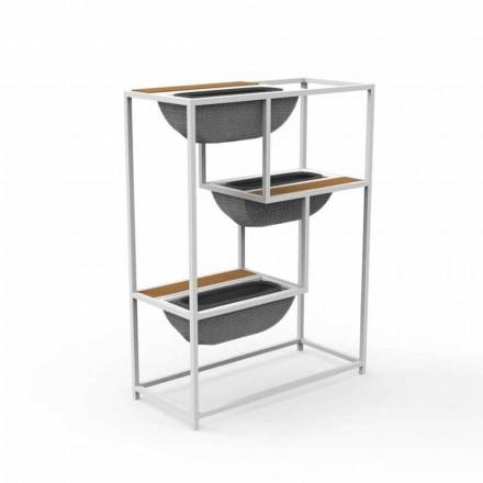 Fioriera Rettangolare Moderna in Alluminio Design di Lusso - Jackie by Talenti