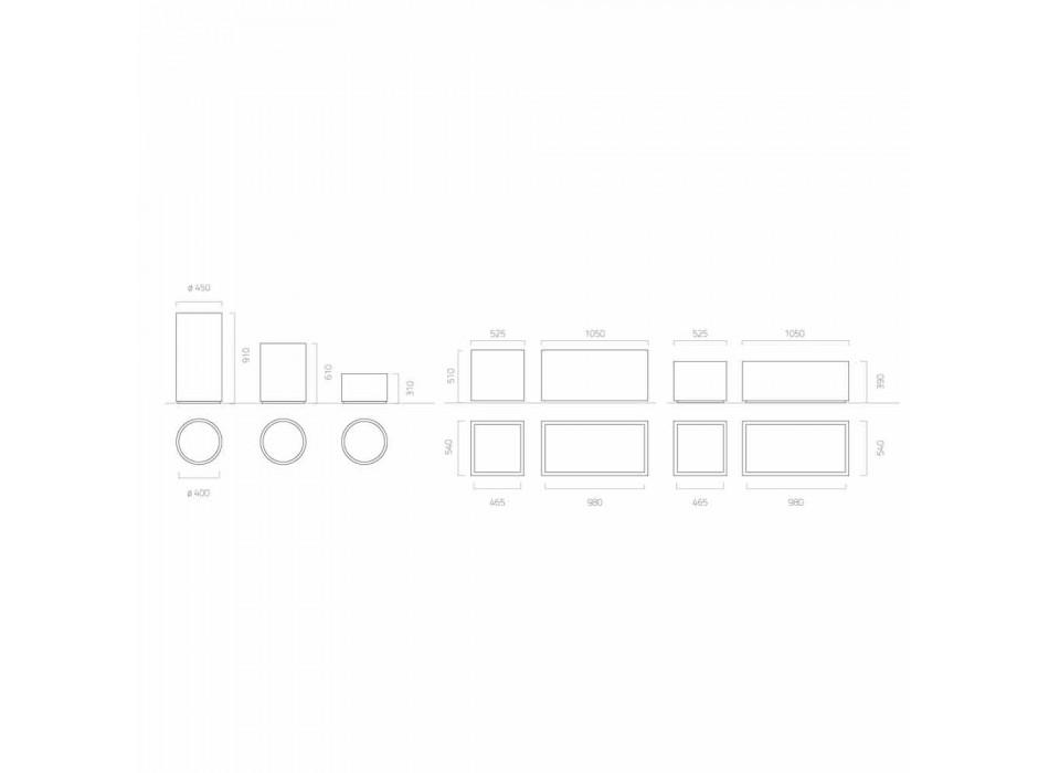 Fioriera Tonda/Rettangolare da Giardino Design in Acciaio Made in Italy - Philly