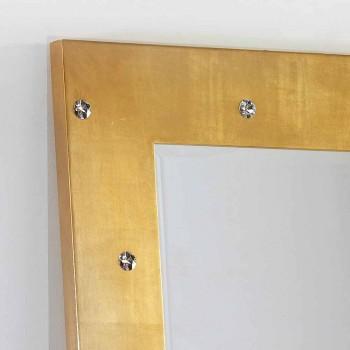 Grande specchiera da terra / muro con cristalli Swarovski Vivien