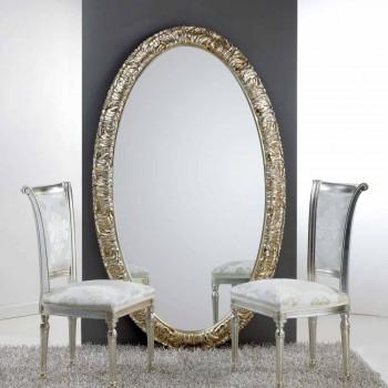 Grande specchiera ovale da terra / parete Life, 114x190 cm