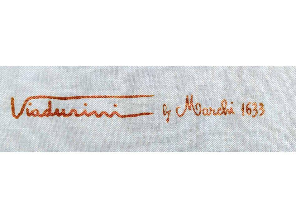 Grembiule d'Artigianato Italiano in Cotone con Stampa Artistica Manuale
