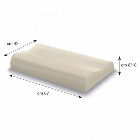 Guanciale a Doppia Onda in Memory Foam Alto 10 cm Made in Italy – Nimes