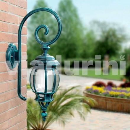Lampada a muro da esterno in alluminio pressofuso made in Italy, Anika