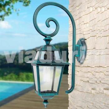 Lampada a muro da giardino in alluminio prodotta in Italia, Kristel