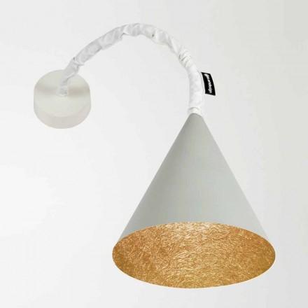Lampada a muro di design In-es.artdesign Jazz a Cemento verniciata