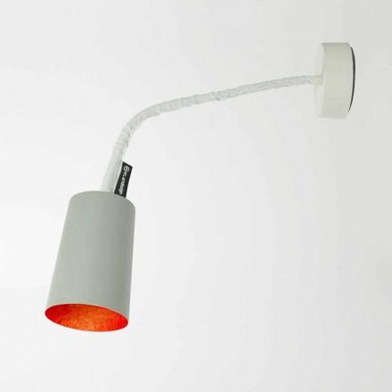 Lampada a muro di design In-es.artdesign Paint a Cemento verniciata