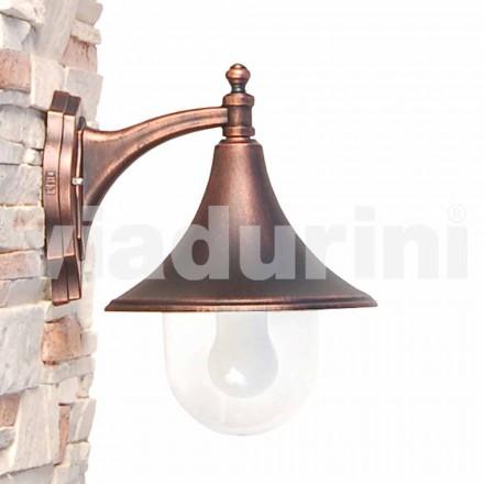 Lampada a muro per esterno in alluminio pressofuso made Italy, Anusca