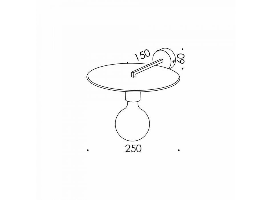 Lampada a Parete Artigianale in Ferro Nero o Finitura Corten Made in Italy - Ufo
