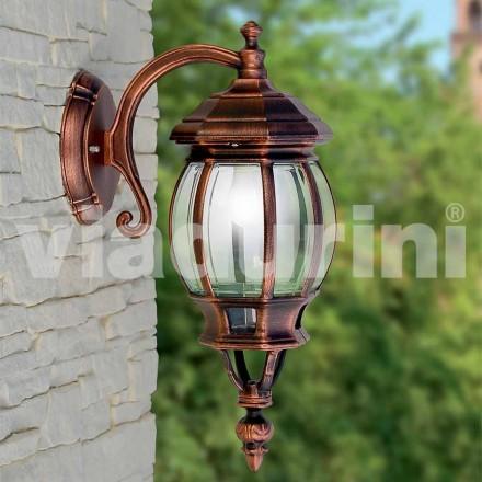 Lampada a parete da esterno in alluminio realizzata in Italia, Anika