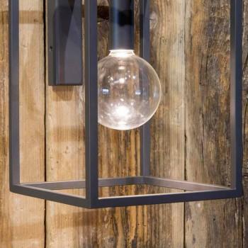 Lampada a Parete da Esterno in Ferro e Alluminio con LED Made in Italy - Cubola