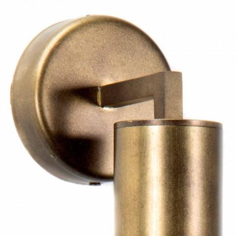 Lampada a Parete Fatta a Mano in Alluminio e Vetro Made in Italy - Ravenna