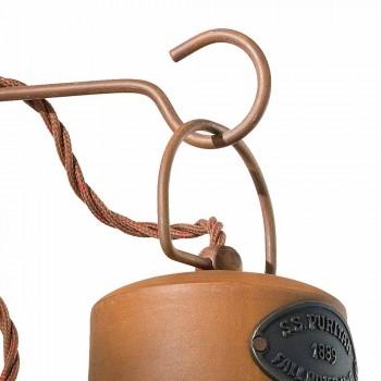 Lampada a parete in ceramica e ferro ruggine Desiree Ferroluce