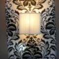 Lampada a parete moderna in seta Bamboo, colore avorio