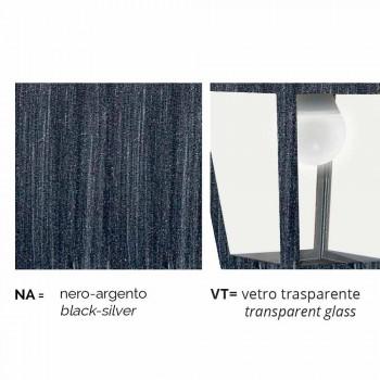 Lampada a soffitto da esterno in alluminio fatta in Italia, Aquilina
