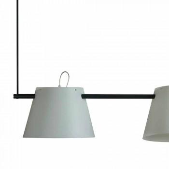 Lampada a sospensione 3 luci design moderno,L.150xP.32cm,Gemma
