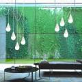 Lampada a sospensione bianca a 8 luci Drop, design moderno