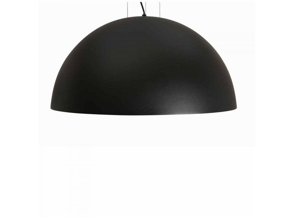 Lampada a sospensione bicolore in acciaio, Ø50xh.25xL.cavo100cm, Grace