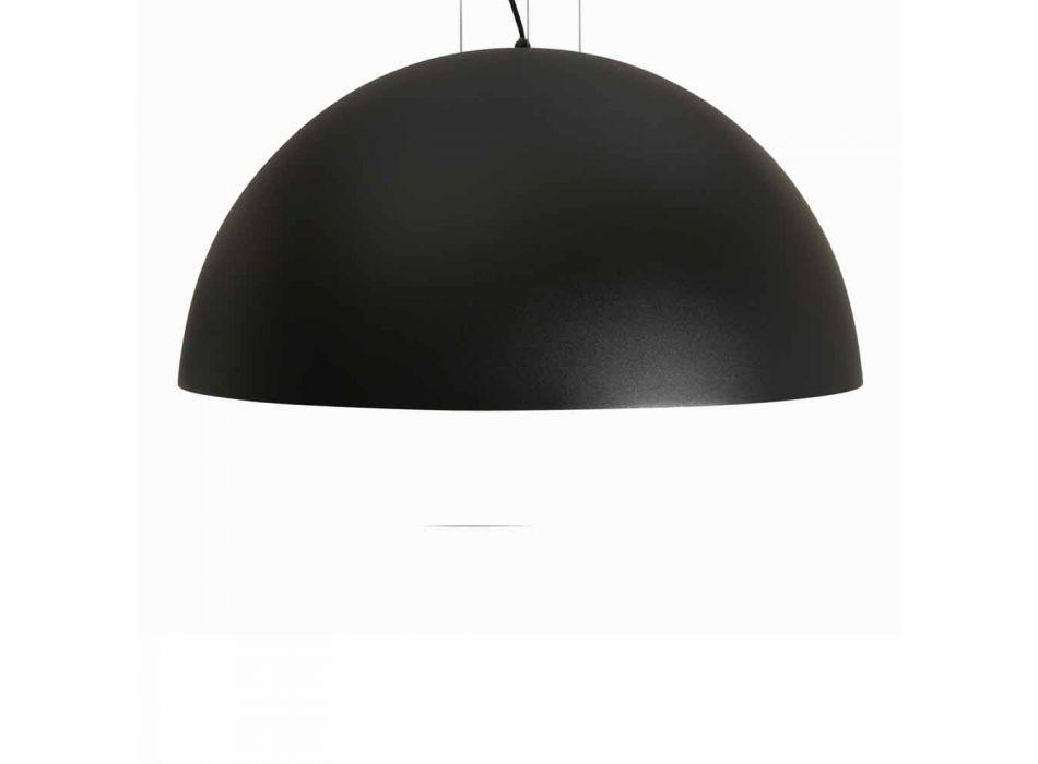 Lampada a sospensione bicolore in acciaio, Ø60xh.30xL.cavo100cm, Tara