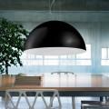 Lampada a sospensione bicolore in acciaio 60 xH 30x L.cavo100 cm Tara