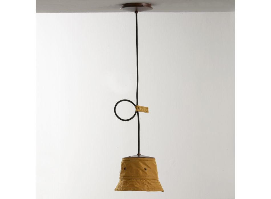 Lampada a Sospensione con Paralume in Poliestere Made in Italy - Toscot Junction