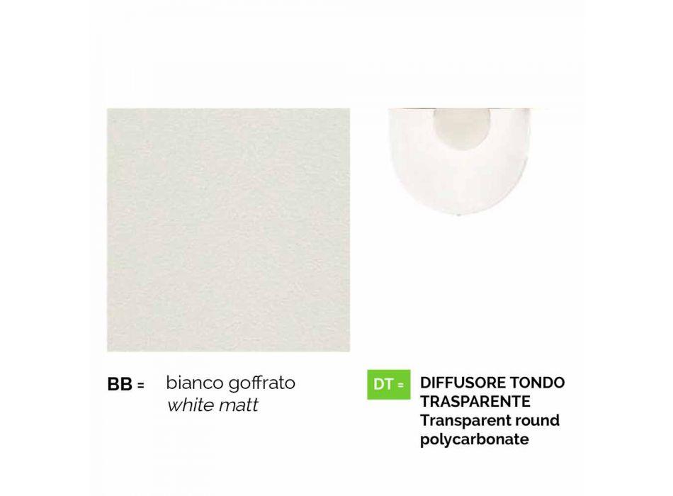 Lampada a sospensione da esterno in alluminio bianco made Italy,Anusca