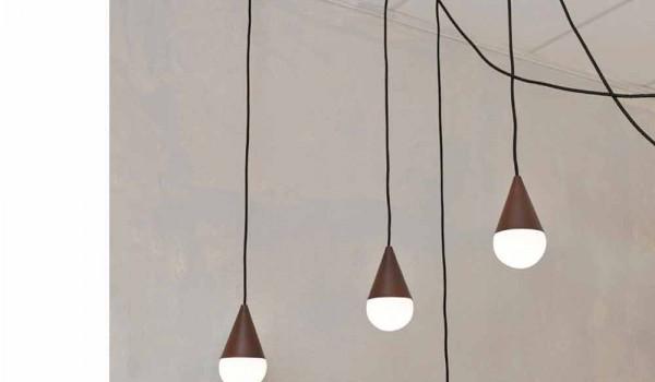 Lampade A Sospensione Design : Lampada a sospensione design a luci drop colore corten