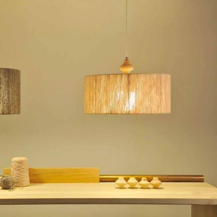 Lampada a sospensione design moderno Bois, cavo da 400 cm