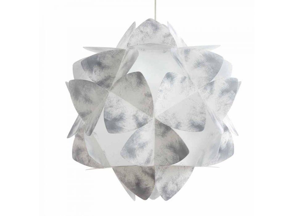 Lampada a sospensione design moderno grigia, diametro 46 cm,Kaly