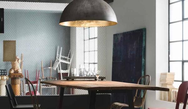 Lampada a sospensione design rustico Ø60 cm galileo il fanale