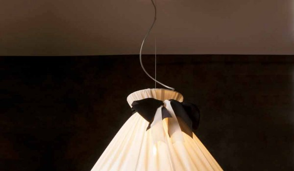 Lampade A Sospensione Design : Lampada a sospensione design vintage in seta chanel