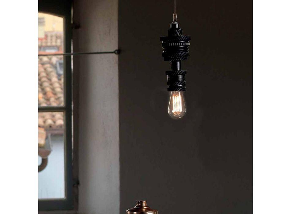 Lampada a Sospensione di Design in Ceramica 3 Finiture Made in Italy - Futurismo