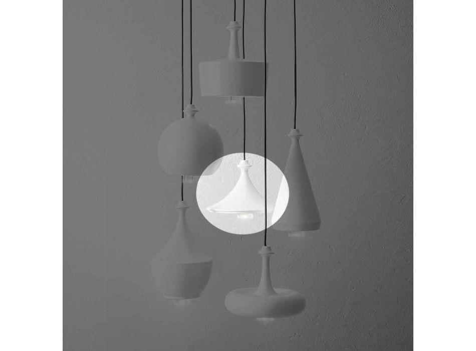 Lampada a Sospensione di Design in Ceramica- Lustrini L1 Aldo Bernardi