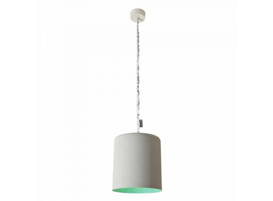 Lampada a sospensione di design In-es.artdesign Bin Cemento verniciata