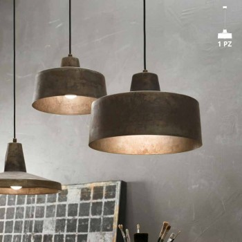Lampada a sospensione di design in ferro anticato Jean Il Fanale