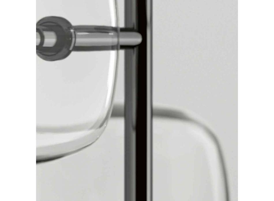 Lampada a Sospensione di Design in Metallo Lucido Made in Italy - Donatina