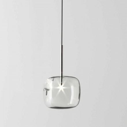 Lampada a Sospensione di Design in Metallo e Vetro Made in Italy - Donatina