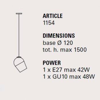 Lampada a sospensione di design in metallo Magnet - Toscot