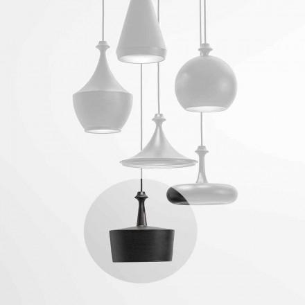 Lampada a Sospensione a Luce LED in Ceramica – Lustrini L6 Aldo Bernardi