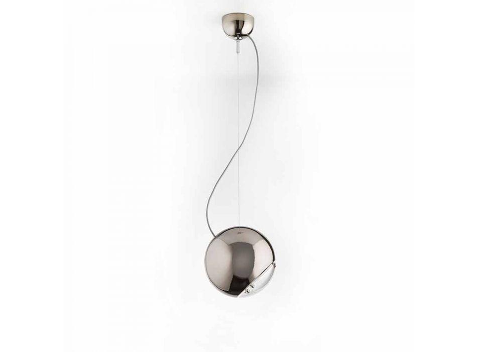 Lampada a sospensione in ceramica Globo di Aldo Bernardi