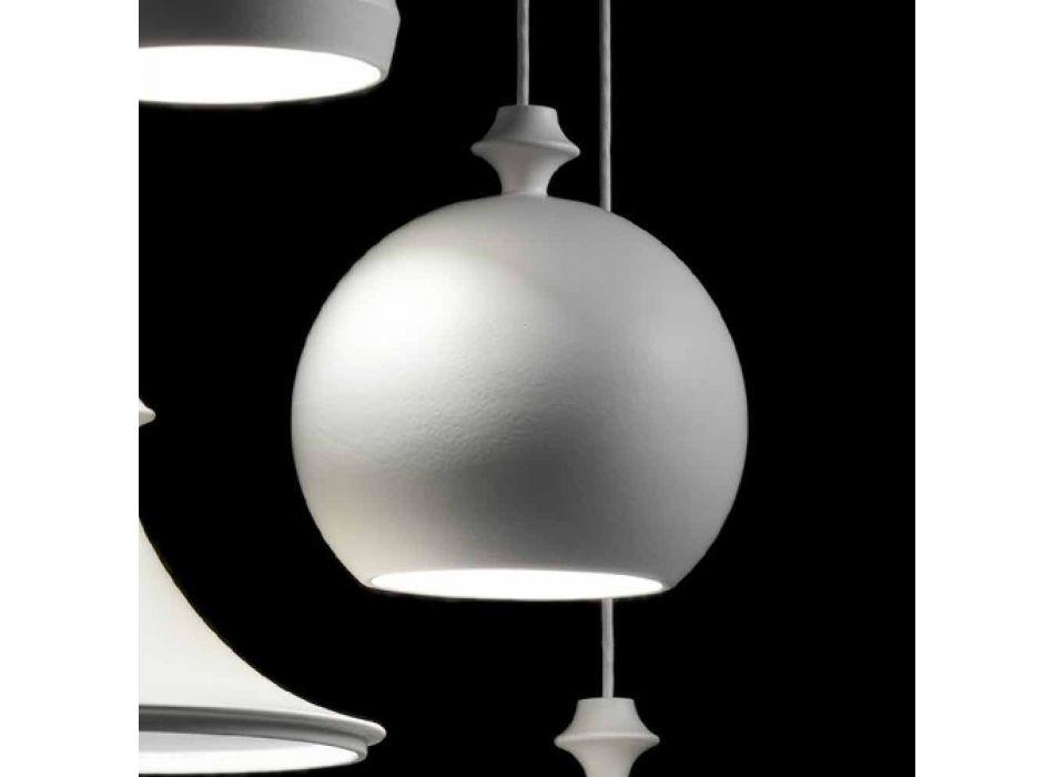 Lampada a sospensione in ceramica I Lustri 5 di Aldo Bernardi