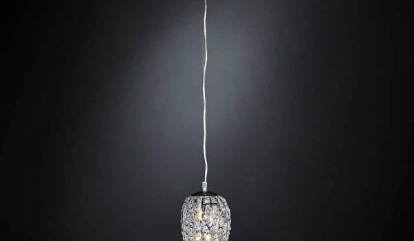 Plafoniere Cristallo E Acciaio : Lampada a sospensione in cristallo e acciaio forma di uovo egg
