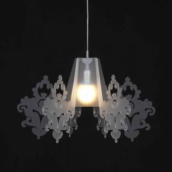 Lampada a sospensione in metacrilato colorato Alessia,diametro 70 cm