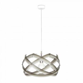 Lampada a sospensione in metacrilato con decoro diametro 53 cm Vanna
