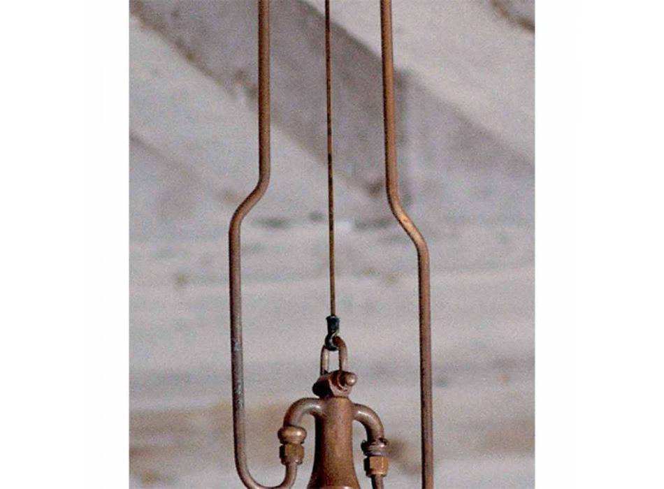Lampada a sospensione in ottone e rame Mulino con gancio