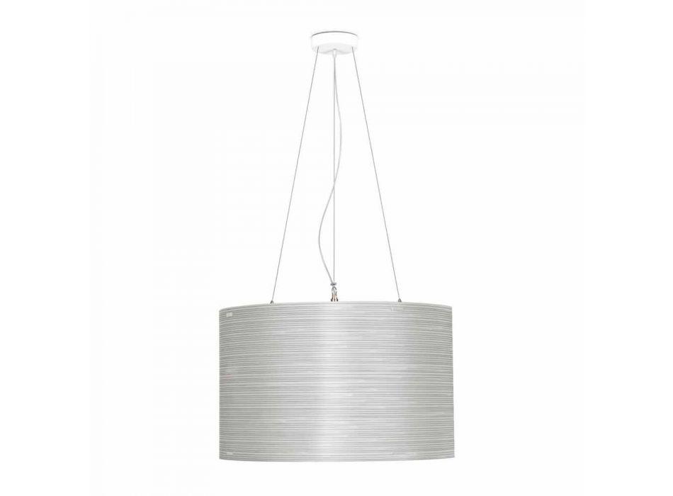 Lampada a sospensione in polipropilene bianco diametro 60 cm Debby